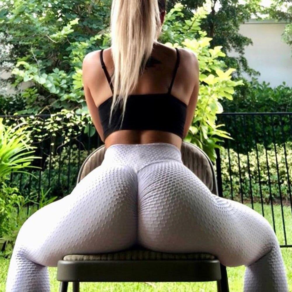 Yoga Jogging pantalons de course pour taille haute tenue de sport serré sans couture hanche musculation Leggins Femme femmes Fitness Gym Leggings