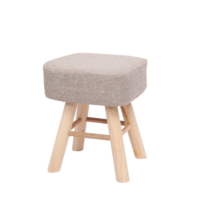 Solid Wood Shoes Stool High Leg Table Stool Square Stool Round Stool Originality Makeup Dressing Stool Household