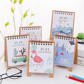 2021 Mini Cartoon Design Study Room Table Desktop Paper Calendar Daily Scheduler Table Planner Yearly Agenda Organizer dropship image