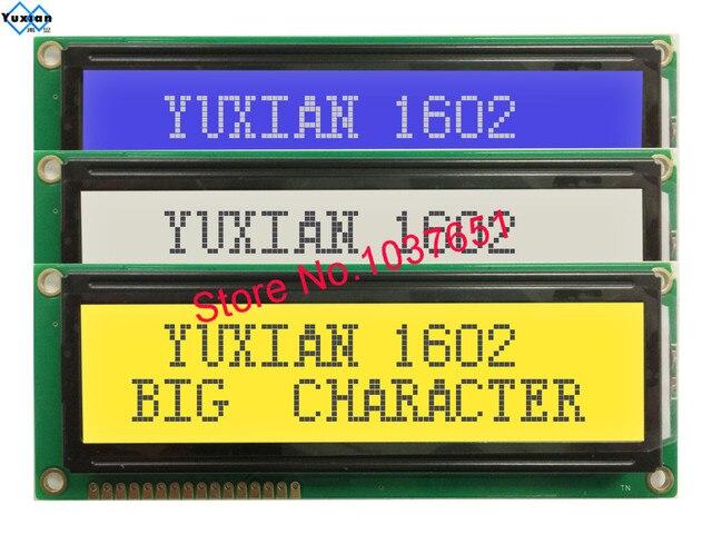 Pantalla lcd STN de gran tamaño azul, verde, blanco y negro, SPLC780D1, WH1602L, LCM1602B, envío gratis, 2 uds.