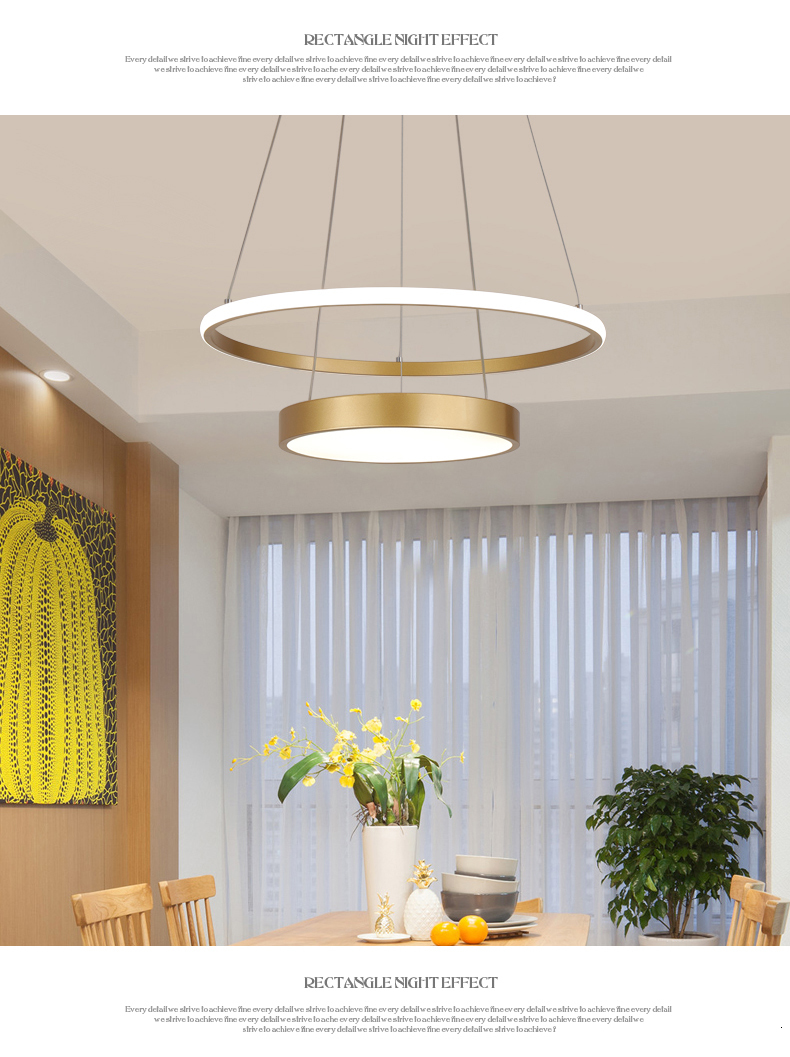 Avize Lustre Pendant Light Gold
