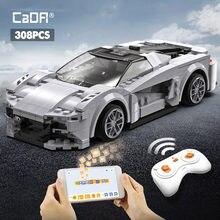 Cada high-tech APP programowanie zdalne sterowanie sportowe samochodowe klocki budowlane miasto RC pojazd samochód wyścigowy cegły prezenty zabawki dla chłopców