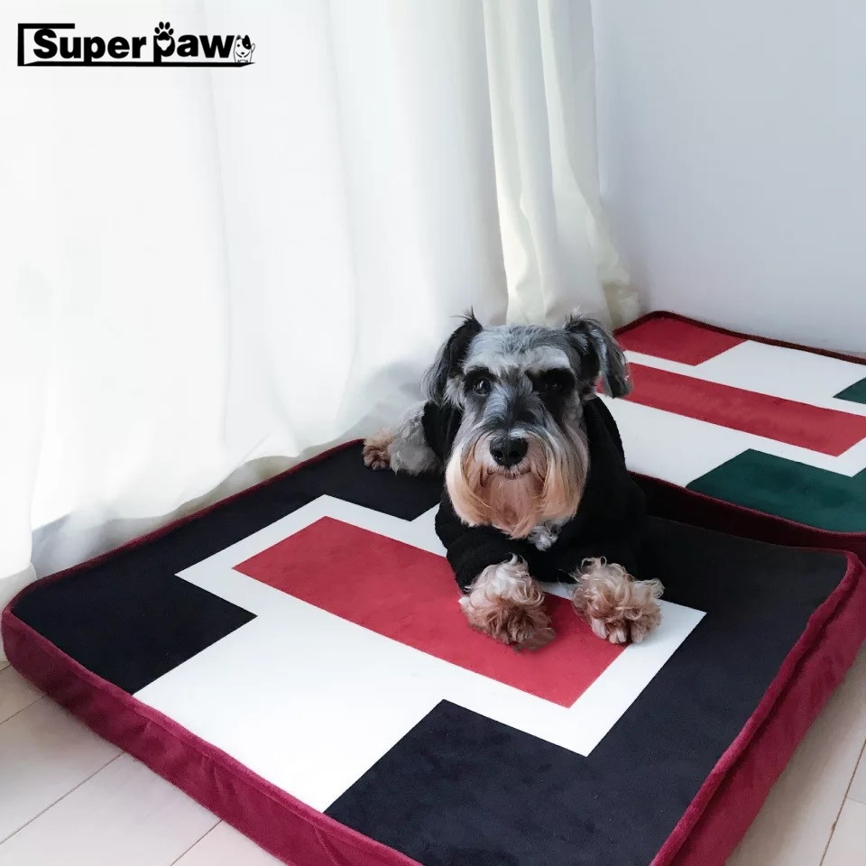 Dog Bed Cushion for Small Medium Large Dogs Oxford Cloth Puppy Breathable Pets House Pad Pet Bulldog Nest Sofa Blanket Mat AQB01