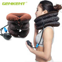 Ar inflável cervical pescoço tração pescoço massagem alongamento dispositivo ombro alívio da dor músculo relaxar travesseiro cervical massageador