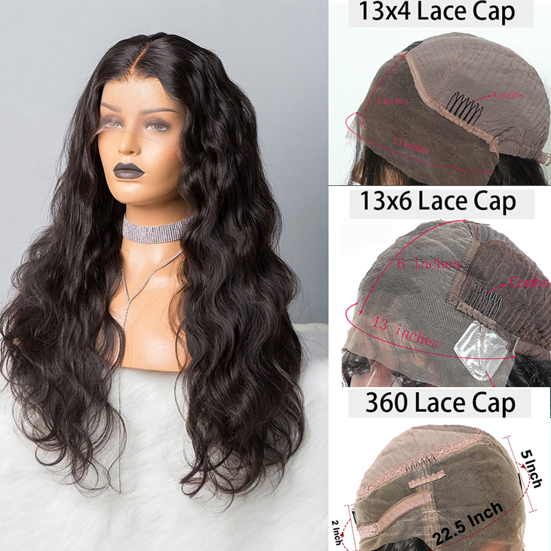 250 Density Body Wave Lace Wig 360 Lace Frontal Wig 13x6 Lace Front Human Hair Fake Scalp Wigs Brazilian 370 Wig EverBeauty Remy