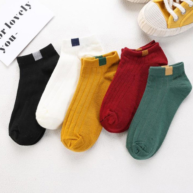 1Pair Woman Cute Casual Socks Spring Ankle Socks Girls Cotton Color Novelty Women Fashion Lady Fashion Socks