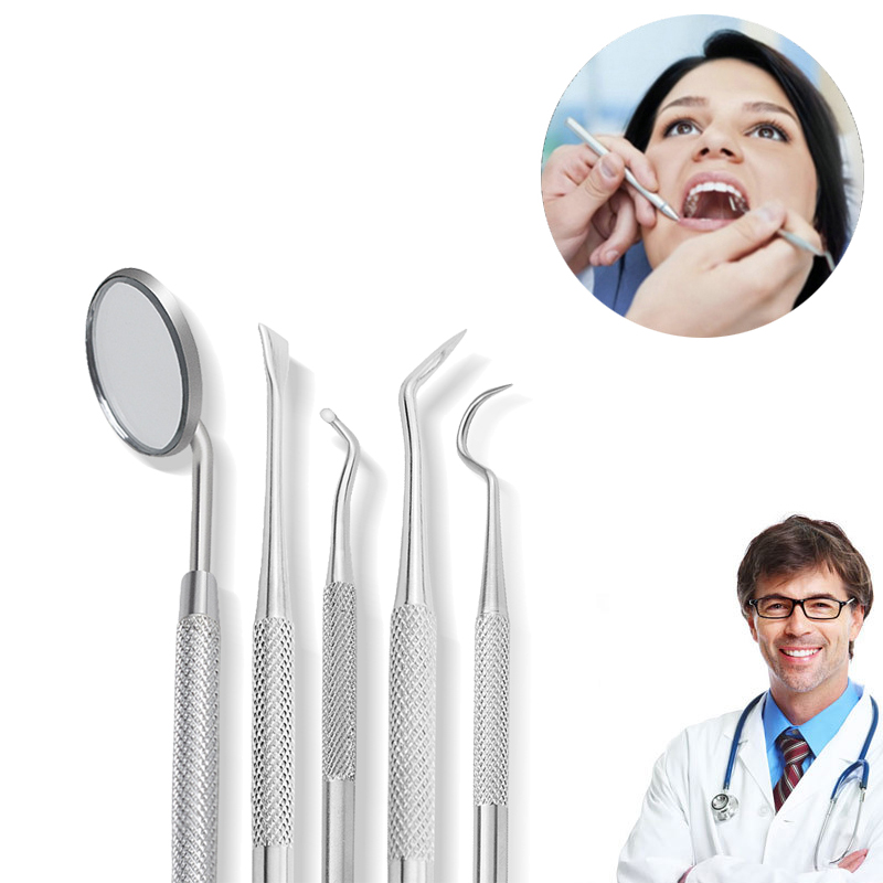 Dental Hygiene Tool Sickle Shape Dentist Tartar Scraper Scaler Dental Equipment Calculus Plaque Remover Teeth Cleaning Oral Care