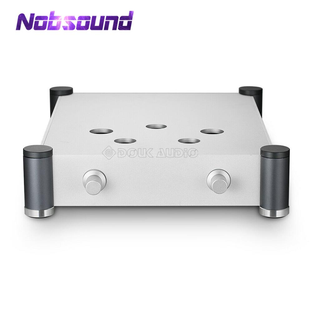 Nobsound HiFi 300B Vacuum Tube Amplifier Chassis Aluminium Enclosure DIY Case Audio Box Silver