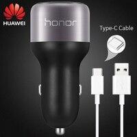 Huawei P9 Car Fast Charger Original 2 USB Supercharge 9V2A USB Type C Cable M5 Pro Lite Nova 2 s 3 4 3e 4e Honor 8 9 V8 V9 Note8|fast charger|charger dual|car fast -