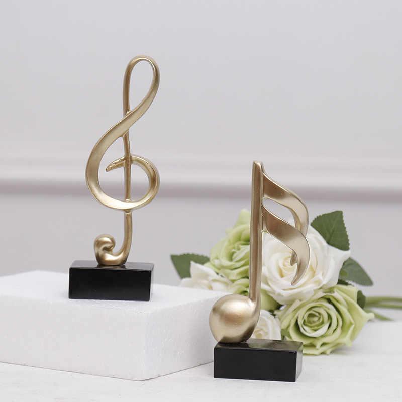 Strongwell trofeo de música minimalista moderno, símbolo de música Stave, estatua de Piano para habitación, artesanía, accesorios de decoración para el hogar, regalos de cumpleaños