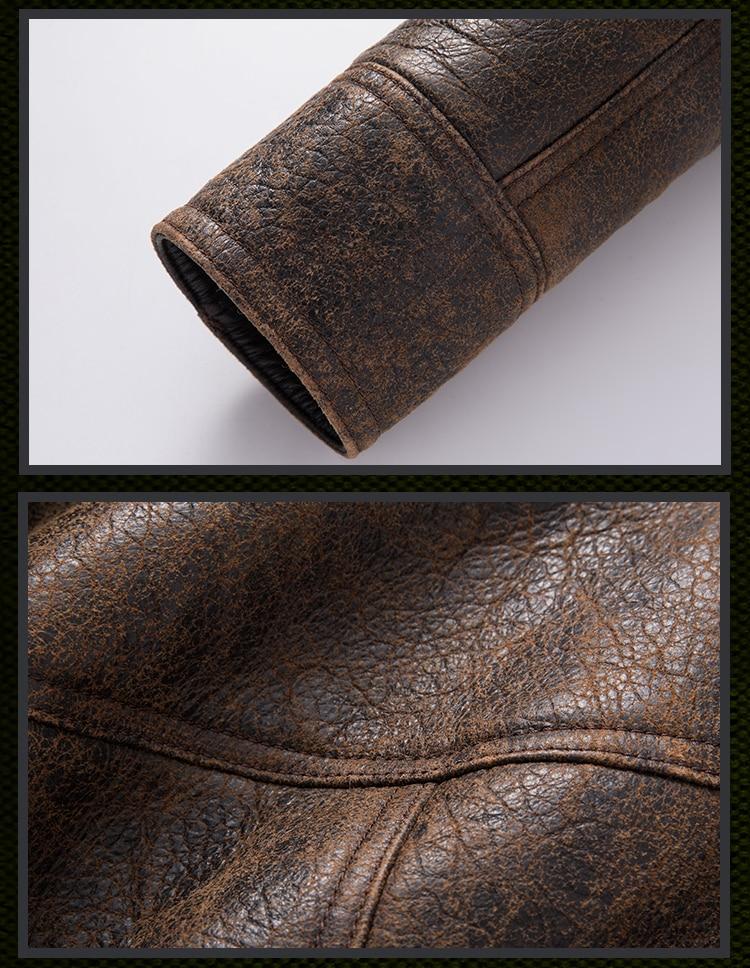 H31acee0f4ee7468e9ae25fde1f5b016bH Free shipping,Winter thick Genuine Sheepskin coat,B3 Wool Shearling,warm fur jacket,mens plus size genuine leather jackets.