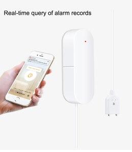 Image 4 - WIFI sygnalizator przecieku wody inteligentne mobilne czujki alarmy czujnik alarmowy poziomu wody wyciek Home Securit kontrola aplikacji bezpieczeństwo w domu