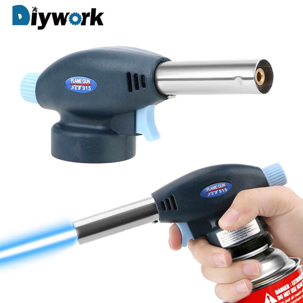 DIYWORK Multi Purpose Torch Ignition Lighter 915 Metal Gun Torch Portable Butane Gas Welding Torch
