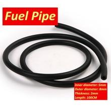 90 см-100 см топливный шланг черного цвета для мотоцикла топливный газовый шланг для доставки масла бензиновая труба 5 мм I/D 9 мм O/D бензиновая т...