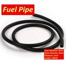 90 cm 100 cm Yakıt Hortum Siyah Renk Motosiklet Yakıt Gaz Yağı Teslimat Tüp Hortum Benzin Boru 5mm i/D 9mm O/D Benzin Tüp Yakıt Borusu