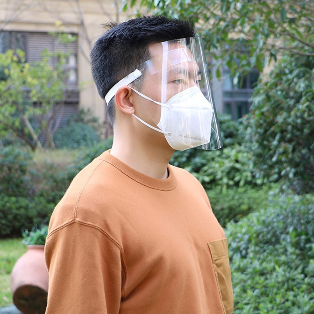 1PCS Transparent Stop The Flying Spit Prevent Anti Droplet Dust-proof Protect Full Face Covering Mask Visor Shield