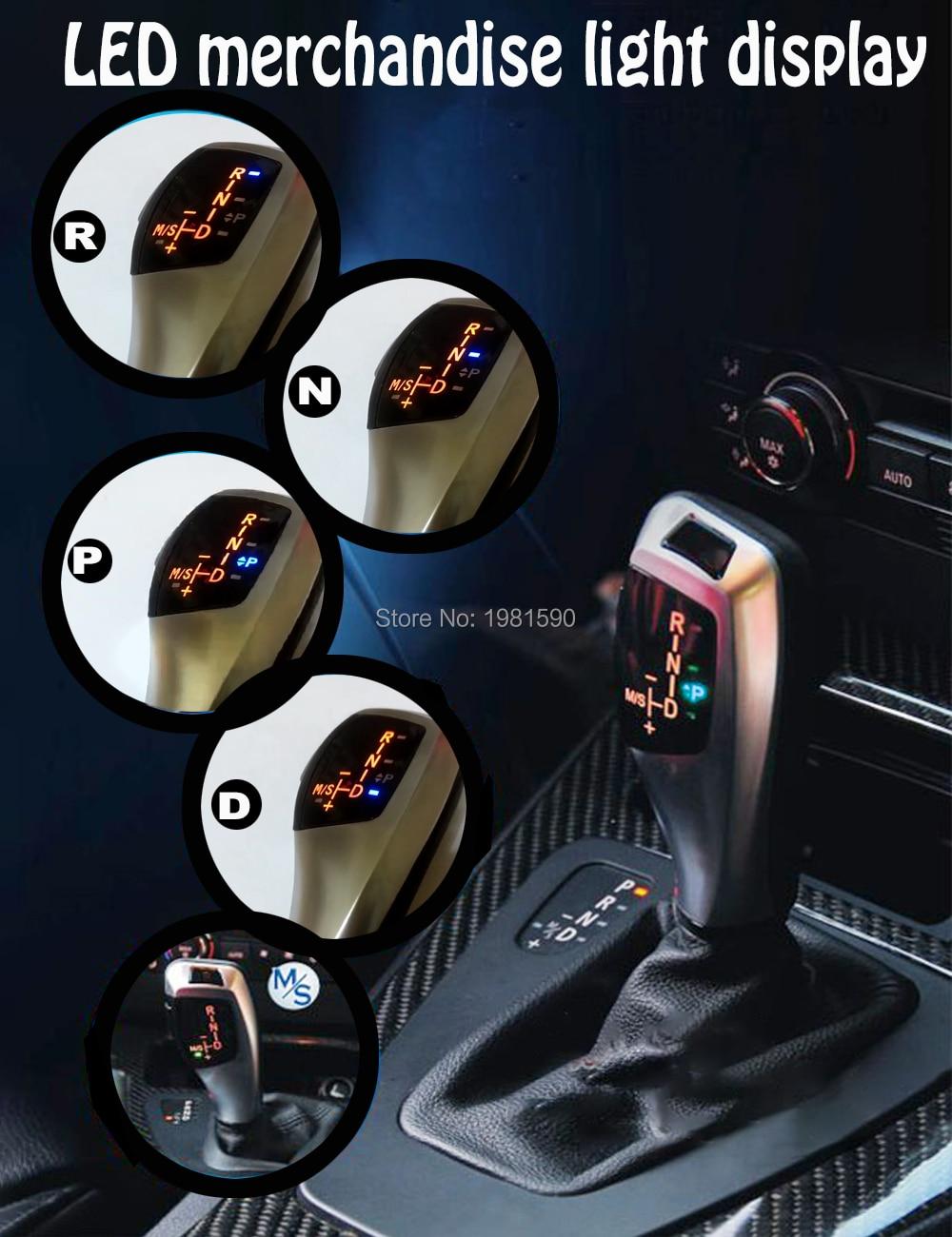 Levier de LED de levier de vitesse manette de vitesse pour BMW E39 4D facelifté E39 5D facelifté E53 facelifté autocollant de bouton de changement de vitesse automatique