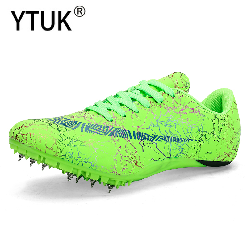 YTUK new Track and Field Men Women Training Athletic Shoes Professional Running Track Race Jumping Soft Spikes Shoes Sneakers