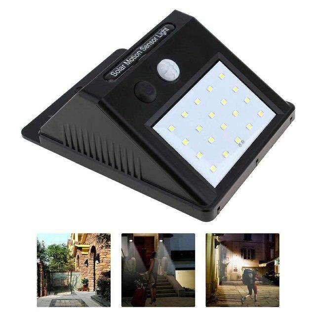 Wasserdicht 20 LED Solar Lichter Motion Sensor Wand Licht Outdoor Garten Hof Lampe 3