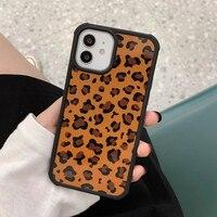 Leopard Print Milk Cow Zebra Stripe Phone Case For iPhone 13 12 11 Pro Max Mini XR X XS 7 8 Plus SE 2020 2021 Hard Back Cover