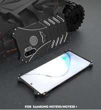 Batman Superhero Metal Case For Samsung Galaxy Note 10 Note10+ Plus Hard Cover Shockproof Aluminum Heat Dissipation+Straps+Stand