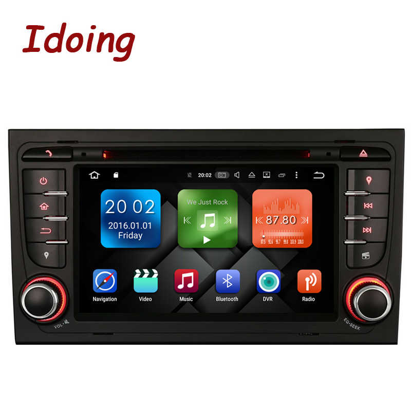 Idoing 32G Rom 8Core 2Din Android8.0 Auto Radio Dvd-speler Voor Audi A4 Multimedia Video Hoofd Apparaat Stereo wifi 3G Tv Snelle Boot