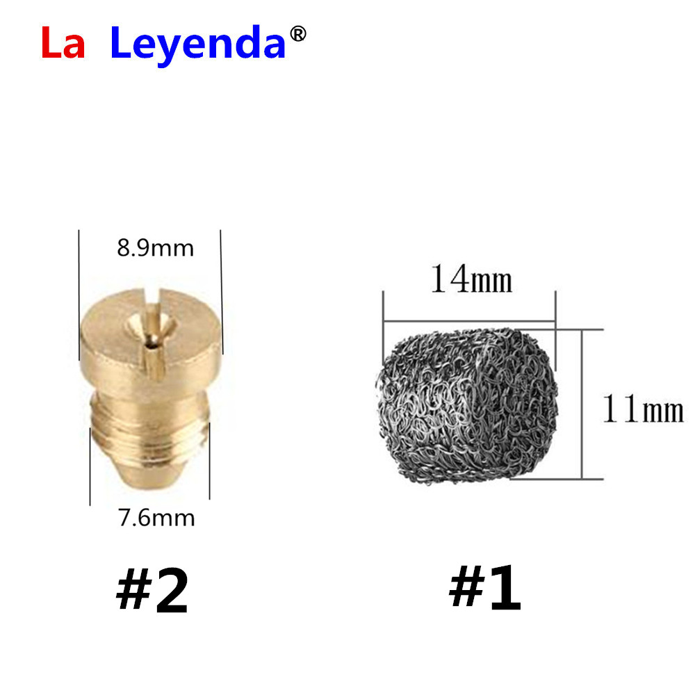 LaLeyenda Stainless Steel Mesh Filter Foam Tablet 1.1mm Nozzle For Snow Foam Pot Cannon Lance High Pressure Wash Soap Foamer Gun