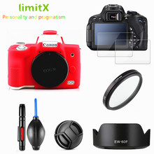Canon EOS M50 18 150mm lens tam koruma kiti ekran koruyucu kamera kılıfı UV filtre lens hood Cap temizleme kalem hava üfleyici
