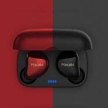 سماعة لاسلكية تعمل بالبلوتوث 5.0 سماعات أذن تعمل باللمس سمّاعات أذن لاسلكيّة يدوي رياضة مقاوم للماء سوبر باس سماعات صغيرة مع مايكروفون