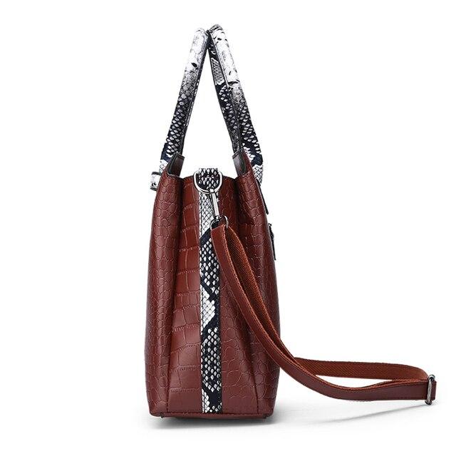 Classic Crocodile Pattern Handbag  3