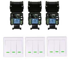 Mini Size DC12V 24V 1CH 10A RF Wireless Remote Control Switch Relay Receiver+86 Wall Panel Remote Transmitter ,315/433.92 MHZ(China)