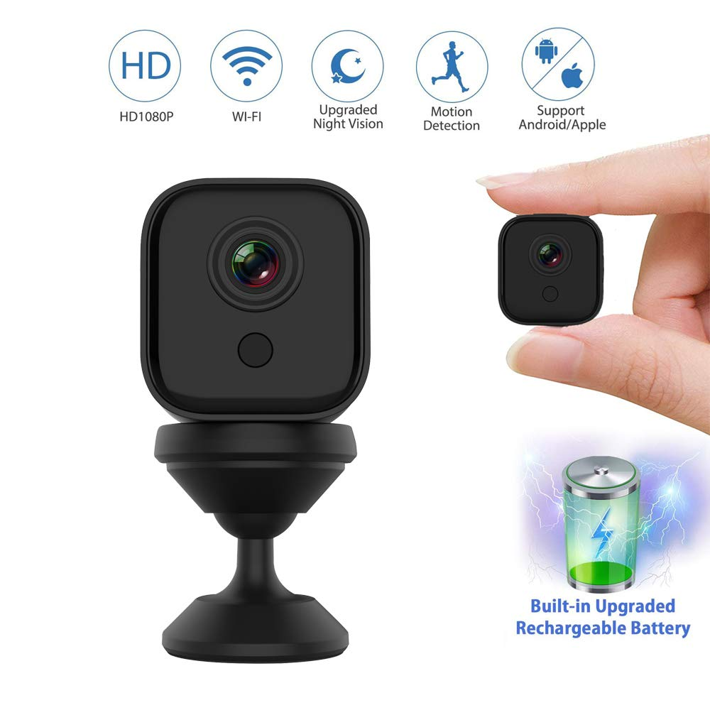 WiFi IP Camera Mini Camera 1080P Wireless Upgraded IR Night Vision, Portable Nanny Cam With Motion Detection For Indoor/Outdoor