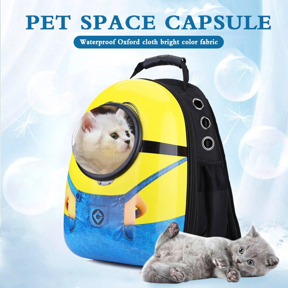Respirant espace Capsule animal de compagnie chat chien transporteur sac chiens sac à dos pour Kitty chiot Chihuahua petits animaux de compagnie en plein air voyage sacs Cave