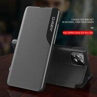 APPO-funda magnética de cuero para OPPO FindX3 Pro, cubierta abatible de ventana de visión inteligente para OPPO Find X3 X 3 Pro 3X X3Pro 2021 5G, con soporte para libro