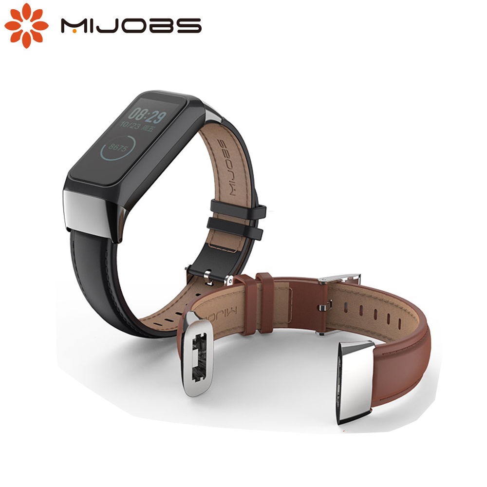 Mijobs Leather Strap for Huami <font><b>Amazfit</b></font> <font><b>Cor</b></font> <font><b>2</b></font> Smart Band Milanese Wrist Strap <font><b>Bracelet</b></font> for <font><b>Amazfit</b></font> <font><b>Cor</b></font> <font><b>2</b></font> Smart Wriststrap image