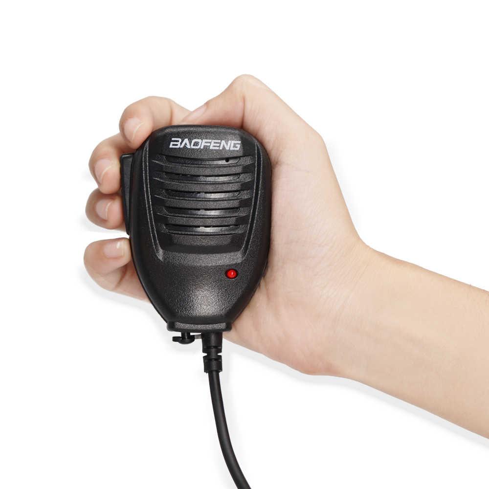 Baofeng Asli UV-82 Tangan Mikrofon Radio Speaker Mic PTT untuk Walkie Talkie BF-888S UV-82 UV-5R UV-5RPro UV-3R Plus UV-6R
