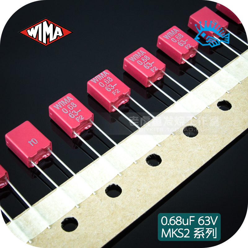 5pcs/50pcs 0.68uF 63V MKS2 Series WIMA 680nF 684 Germany Promise Film Capacitor