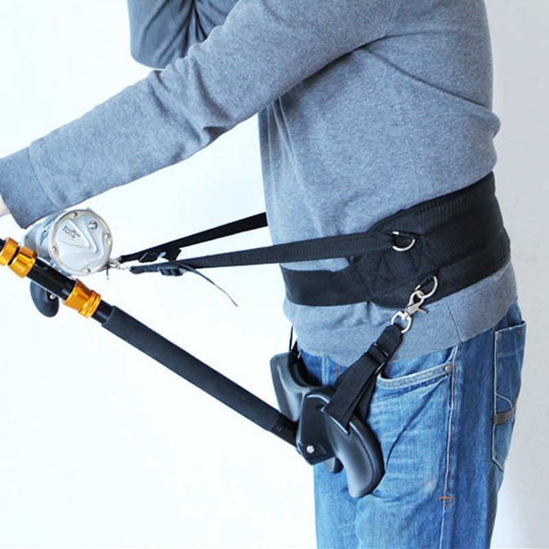 Fishing Belt Rod Holder Adjustable Fishing Harness Rock Waist Belt Fishing Rod Pole Stand Saltwater Fishing Tackle