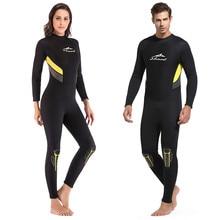 Цельный неопреновый 3 мм водолазный костюм с длинным рукавом для мужчин и женщин гидрокостюм для предотвращения Медузы костюм для подводного плавания