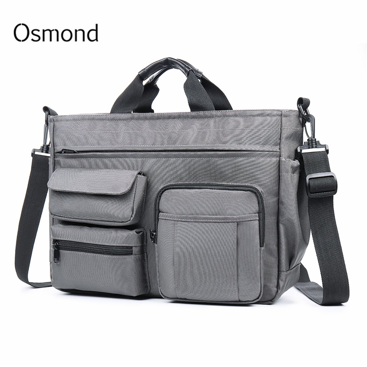 Osmond Fashion Office Bags For Men Nylon Waterproof Briefcase 14 Inch Laptop Tote Bag Multi-pocket Male Business Messenger Bags