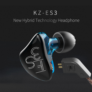 Image 5 - Kz ES3 1BA + 1DD In Ear Oortelefoon Dynamische Driver Hifi Sport Noise Cancelling Headset Vervanging Kabel Kz ES4 ZS3 Zst ZS6 AS10 Zsn