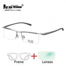 Gafas graduadas de titanio puro para miopía, gafas para miopía con montura de resina, lentes ópticas Unisex, gafas personalizadas F8189