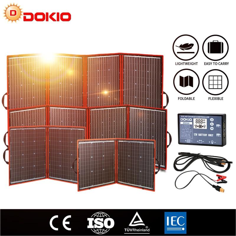 Dokio Flexible Foldable Solar Panel High Efficience Travel & Phone & Boat Portable 12V 80w 100w 150w 200w 300w Solar Panel Kit|Solar Cells| - AliExpress