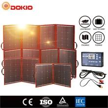 Dokio Flexible plegable del fotovoltaica paneles solares de auto caravanas y cell teléfono y powerbank y camping 12V 80w 100w 150w 200w 300w alta de eficiencia portátiles energia placa solar + USB controlador kit