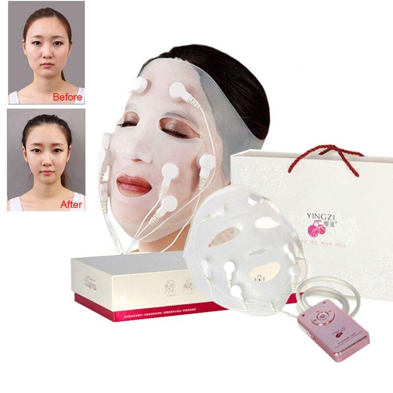 New USB Charging Vibration Facial Massage Quick Face Lift Mask V Face Chin Cheek Lift Up Slimming Slim Massager 110V-240V