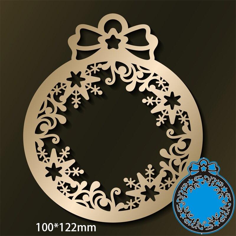 100*122mm bola de natal novo metal corte dados scrapbooking diy álbum cartão papel artesanato gravação estêncil dados