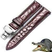 Echt Alligator Uhr Strap Echtem Leder Uhr Bands Für Männer Oder Frauen Uhr Zubehör 12 - 24mm
