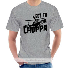 Interesting Pictures Get Da Choppa - Funny Retro 80's Arnold - Mens Cotton T-shirt @006587
