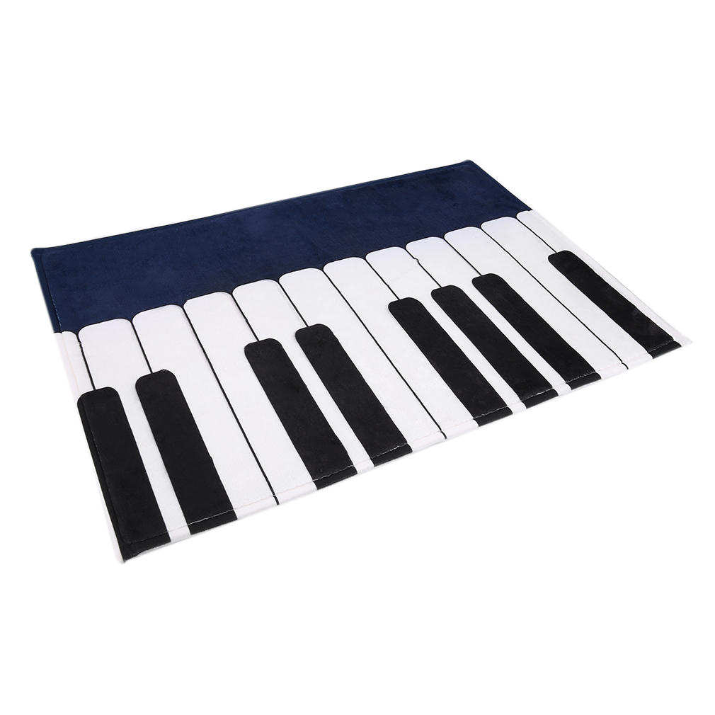 Personality Piano Carpet Bedroom Bedside Living Room Black And White Piano Children Pad Rug With Exquisite Handmade Wrapping