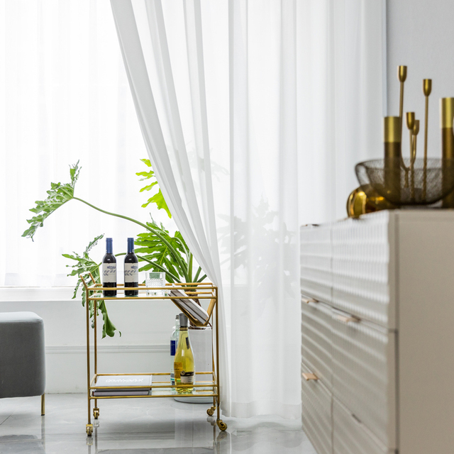 White Curtains for Living Room 1